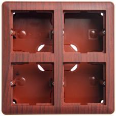 Wessen 59 Морёный дуб Коробка 4-ая подъемная для наружного монтажа с рамкой | KP-452-98 | Schneider Electric
