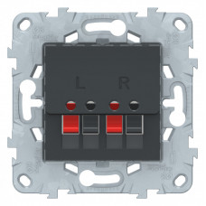 Unica New Антрацит Аудиорозетка | NU548654 | Schneider Electric