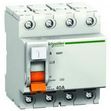 Выключатель дифференциальный (УЗО) ВД63 4п 63А 30мА тип AC | 11466 | Schneider Electric