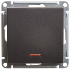 Wessen 59 Черный бархат Переключатель 1-клавишный с подсветкой 10АХ | VS610-157-6-86 | Schneider Electric