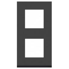 Unica Pure Черное стекло/Антрацит Рамка 2-ая вертикальная | NU6004V86 | Schneider Electric