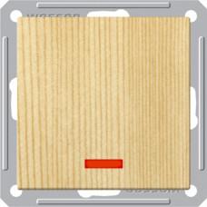 Wessen 59 Сосна Выключатель 1-клавишный с подсветкой 16А (сх.1) | VS116-153-7-86 | Schneider Electric