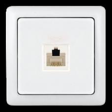 ХИТ О/У без изол. пласт. Белый Розетка телефонная RJ11 (160В, 1А) | RT-4A3-B | Schneider Electric