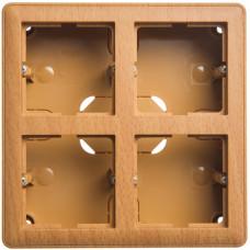 Wessen 59 Бук Коробка 4-ая подъемная для наружного монтажа с рамкой | KP-452-88 | Schneider Electric