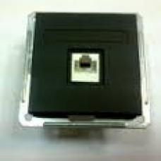 Wessen 59 Черный бархат Розетка компьютерная 1-ая RJ45 кат.5e | RSI-152K5E-6-86 | Schneider Electric