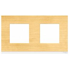 Unica Pure Клен/Белая Рамка 2-ая горизонтальная | NU600483 | Schneider Electric