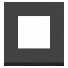 Unica Pure Черное стекло/Антрацит Рамка 1-ая горизонтальная | NU600286 | Schneider Electric