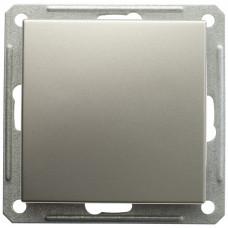 Wessen 59 Морёный дуб Выключатель 1-клавишный с подсветкой 16А (сх.1) | VS116-153-9-86 | Schneider Electric