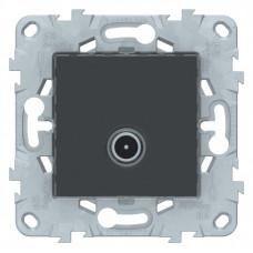Unica New Антрацит Розетка TV, одиночная | NU546254 | Schneider Electric