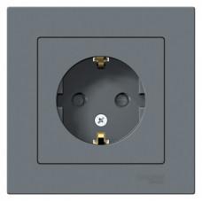 AtlasDesign Грифель Розетка с/з со шторками, 16А, (в сборе с рамкой)   ATN000744   Schneider Electric