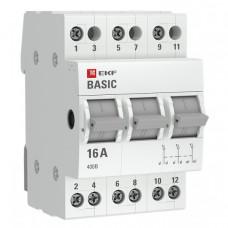Трехпозиционный переключатель 3P 63А EKF Basic   tps-3-63   EKF