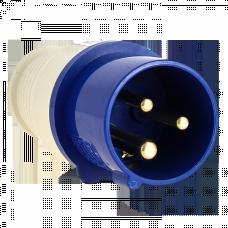 Вилка переносная 013 2Р+РЕ 16А 220В IP44 EKF PROxima | ps-013-16-220 | EKF