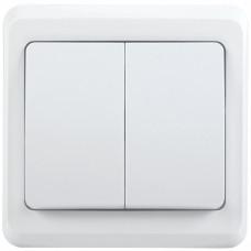 ВС10-2-0-ВБ Выключатель 2 кл 10А ВЕГА (белый) | EVV20-K01-10-DM | IEK