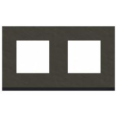 Unica Pure Камень/Антрацит Рамка 2-ая горизонтальная | NU600487 | Schneider Electric