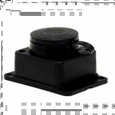 Розетка настенная с защитной крышкой каучуковая 230В 2P+PE 16A IP44 EKF PROxima | RPS-014-16-230-44 | EKF