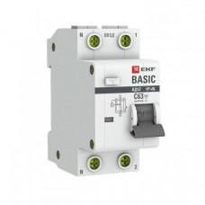 Выключатель автоматический дифференциальный АД-12 1п+N 10А C 30мА тип АС Basic (электронный) | DA12-10-30-bas | EKF