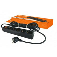 Сетевой фильтр СФ-05В выключатель, 5 гнезд, 5 метров, с заземлением, ПВС 3х1мм2 16А/250В   SQ1304-0003   TDM