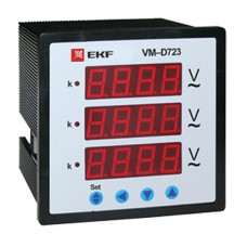 Вольтметр VM-D963 цифровой на панель 96х96 трехфазный EKF PROxima | vd-963 | EKF