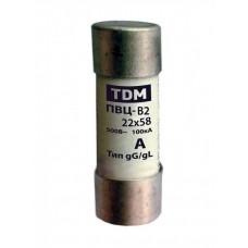 Плавкая вставка ПВЦ-В2 22х58 2А | SQ0729-0023 | TDM