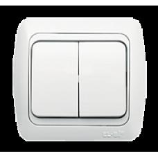 Выключатель 2кл бел/бел TUNA EL-BI   502-010202-202   ABB