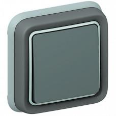 Plexo Серый Переключатель 1-клавишный внутренний монтаж (в сборе) IP55   069811   Legrand