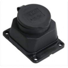 РБ13-1-0м Розетка с защитной крышкой настенная ОМЕГА IP44 | PKR11-016-2-K02 | IEK