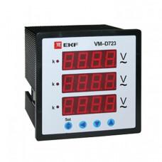 Вольтметр VM-D723 цифровой на панель 72х72 трехфазный EKF PROxima | vd-723 | EKF