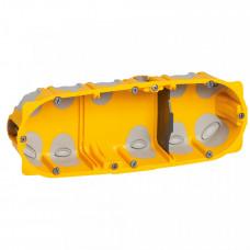 Встраиваемая коробка Batibox - трехмодульная - энергосберегающая - глубина 40 мм | 080023 | Legrand
