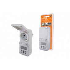 ТаймеррозеточныйТРЭ-02-1мин/7дн-10on/off-8А-IP44 (недельный, защита от влаги) | SQ1506-0005 | TDM ELECTRIC