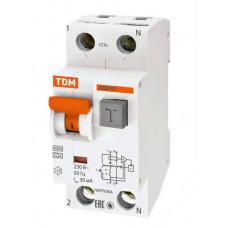 Выключатель автоматический дифференциальный АВДТ 63 1п+N 40А C 30мА тип A | SQ0202-0006 | TDM