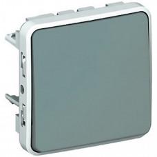 Plexo Серый Переключатель 1-клавишный IP55 | 069511 | Legrand