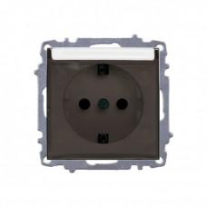 Розетка c защитной крышкой с/з бел. Zena EL-BI   500-010200-218   ABB