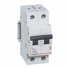 Выключатель автоматический двухполюсный RX3 4500 50А C 4,5кА | 419702 | Legrand