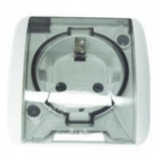 Розетка c защитной крышкой с/з бел. ALSU EL-BI | 504-010215-218 | ABB