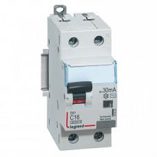 Выключатель автоматический дифференциальный DX3 1п+N 16А C 30мА тип AC | 411002 | Legrand