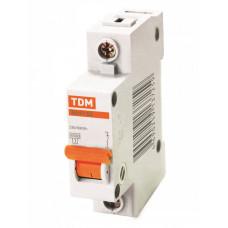 Выключатель автоматический однополюсный ВА47-63 25А C 4,5кА | SQ0218-0005 | TDM