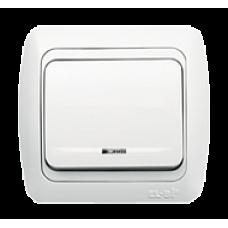 Выключатель 1кл с подсв. Led бел/бел TUNA EL-BI   502-010202-201   ABB