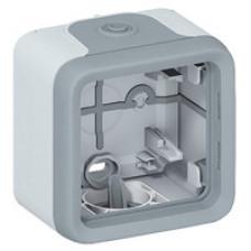 Plexo Серый Коробка 1-ая для наружного монтажа IP55 | 069651 | Legrand