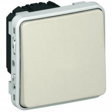 Plexo Белый Выключатель 1-клавишный кнопочный НО+НЗ - контакт IP55 | 069631 | Legrand