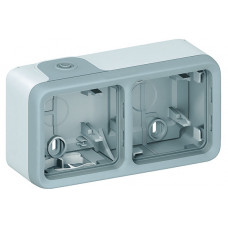 Plexo Серый Коробка 3-ая для наружного монтажа горизонтальная IP55 | 069680 | Legrand