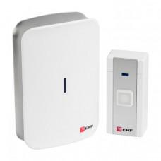 Звонок беспроводной на батарейках (бел.-сер. 20 мелод. с индик. 2х1,5В АA дист. 120м.) EKF PROxima | DBB-D-002 | EKF