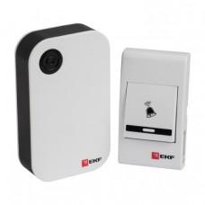 Звонок беспроводной на батарейках (черн.-бел. 36 мелод. с индик. 3х1,5В, ААA дист. 80м.) EKF Basic | DBB-A-001 | EKF
