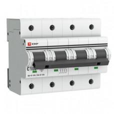 Выключатель автоматический четырехполюсный ВА 47-125 100А C 15кА PROxima | mcb47125-4-100C | EKF