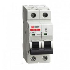 Автоматический выключатель ВА-63, 2P 10А (C) 10kA EKF | elr-2-10 | EKF