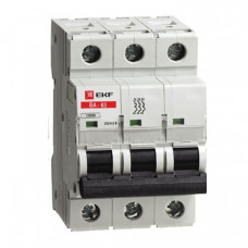 Автоматический выключатель ВА-63, 3P 1А (C) 10kA EKF | elr-3-01 | EKF