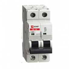 Автоматический выключатель ВА-63, 2P 50А (C) 10kA EKF | elr-2-50 | EKF