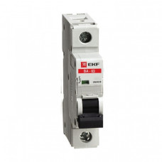 Автоматический выключатель ВА-63, 1P 5А (C) 10kA EKF | elr-1-05 | EKF