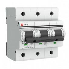 Выключатель автоматический трехполюсный ВА 47-125 100А C 15кА PROxima | mcb47125-3-100C | EKF