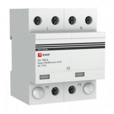 Устройство защиты от импульсных перенапряжений Тип 1 Iimp 25kA (10/350?s) 2P EKF|spd-t1-25-2p|EKF