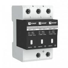 Ограничитель импульсных напряжений серии ОПВ-C/3P In 20кА 400В (с сигнализацией) EKF PROxima | opv-c3 | EKF